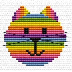 Sew Simple Cat Head Cross Stitch Kit from Fat Cat Cross Stitch from £7.75