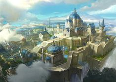 Concept Art Fantasy City 3