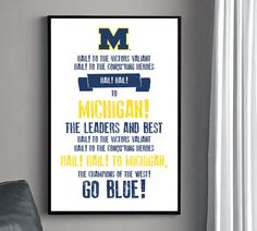 University of Michigan fight song poster.