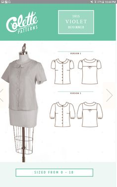 Violet uncut from Colette Patterns by mimisoleil on Etsy