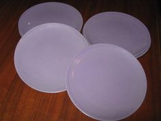 """Lot of Eight (8) Texas-Ware Lavender Purple 6-1/2"""" Plates (5.00 USD) by meowsNpurrs"""