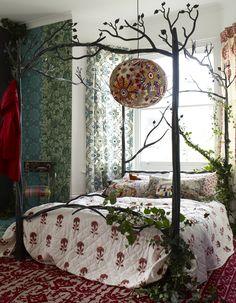 Sarak Kaye Representation, Chris Everard photography, eclectic bedroom