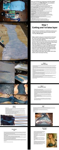 DIY mAKE your own realistic latex mermaid tail with instructions!!!
