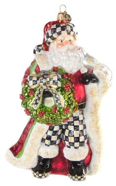 Deck the Halls Santa Ornament
