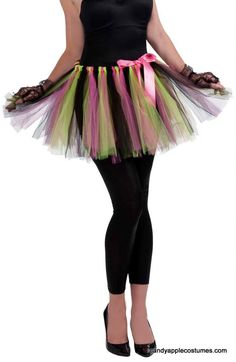 Adult 80s Pink/Green Tutu Skirt - 80s Costumes - Candy Apple Costumes