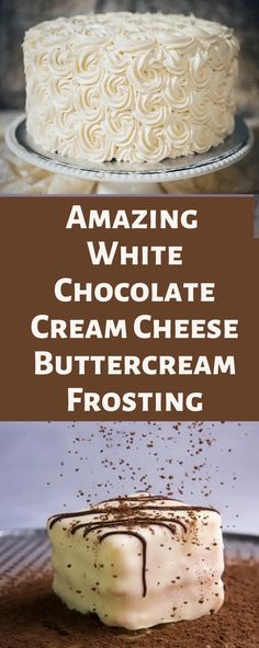 Cream cheese frosting is a wonderful addition to many desserts. Its creamy and sweet taste makes it one of the most popular frostings. This white chocolate cream cheese frosting recipe will leave your mouth watering thanks to how delicious it is. White Chocolate Cream Cheese Frosting Recipe, Cream Cheese Buttercream Frosting, Cake Frosting Recipe, White Chocolate Buttercream, Chocolate Frosting Recipes, White Chocolate Desserts, White Frosting, Baking Recipes, Cake Recipes