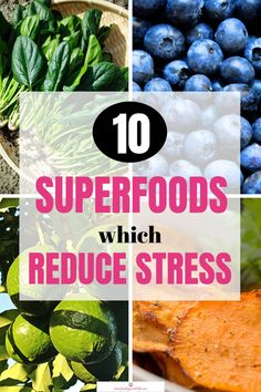 Eating foods that reduce stress improves the quality of your life. They boost your health by warding off cancer, protecting you from heart disease and diabetes. Why not start a diet which includes these 10 superfoods and transform your life? Combattre Le Stress, Reduce Stress, Stress Free, How To Relieve Stress, Stress Relief, Anti Stress, Anxiety Relief, Wellness Tips, Health And Wellness