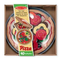 Melissa & Doug Felt Food Pizza Set- at Debenhams.com