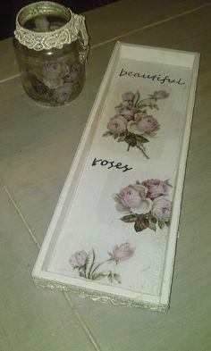 servetten plakken op hout en glas