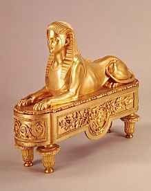 Gold sphinx