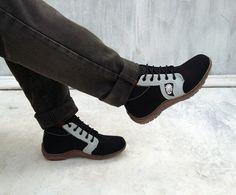 handmade #Rangkayo shoes black canvas size US 9.5 men