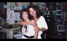 Eddie Van Halen with Sound City staffer Paul circa 1992