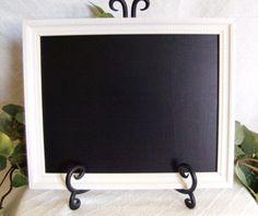 White Framed Chalkboard framed chalk board by PegsSecondChance, $20.00