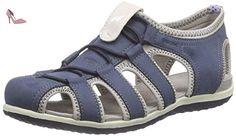 Geox B Kiwi Boy G, Chaussures Marche Bébé Garçon, Bleu (Navy/GREYC0661), 26 EU
