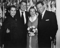 William Holden and his wife, Brenda Marshall, at Ronald and Nancy Reagan's wedding in 1952. They were the best man and matron and the only people in attendance.