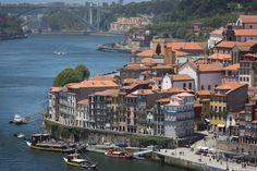 Man Made Porto  Boat Rooftop House Bridge River City Portugal Wallpaper