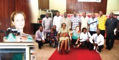 Some parents of disabled children with some members of the parliamentary committee on disability and the SWEB Foundation. INSET: Joyce Den-Besten of the Liliane Foundation.