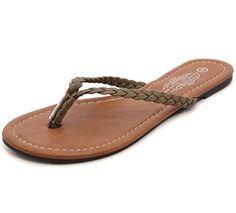 6a6b27f33 Charles Albert Women s Easy Braided Thong Flip Flop Sandal (10