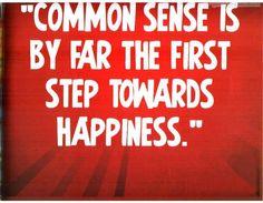 common sense quotes - Google Search