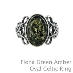 Green amber ring or honey