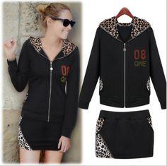 2014 autumn new women's fashion west style hooded leopard print zippered skirt dress $29.70 from enjoyours.com