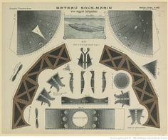 Imagerie d'Epinal. N° 385, Grandes constructions. Bateau sous-marin : [estampe]
