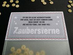 Nikolaus & Weihnachtsmann - Eine Tüte Zaubersterne, Weihnachtsgruß - ein Designerstück von KW16 bei DaWanda