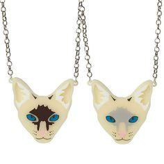 Siamese Cat necklace  laser cut acrylic