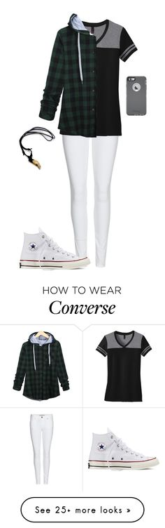 """""""Untitled #552"""" by breemanor on Polyvore featuring Burberry, Converse and OtterBox"""