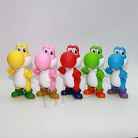 """1 Piece 5 Colors Super Mario Brothers Bros The Dinosaur Yoshi PVC Action Figure Toys Classic Dolls Gift Approx 12cm/5"""""""