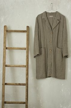 WORK LINEN JACKET by KnockKnockLinen on Etsy