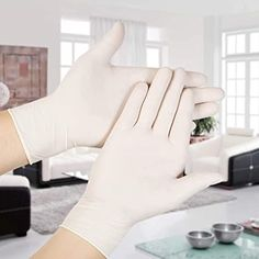L Size Powder Free Nitrile Disposable Gloves M L Size Non Latex Rubber Glove Cleaning and High Protection Loose Pack 20 pcs