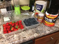 #eatclean #fruit #protein #shake #postrunrecovery #slambooyfitness