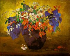 Paul Gauguin - A Vase of Flowers at the National Gallery London England