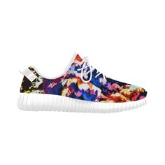 Foliage Patchwork #7 Colorful Sneakers - Jera Nour Grus Women's Breathable Woven Running Shoes (Model 022)