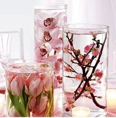Great mix of flowers in a pink theme!