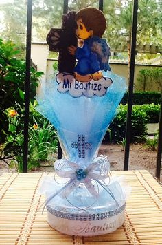 10 centerpieces / confectioners/10 baptism by Customsatinworks