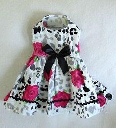 Dog dresses | ... XXXS Rosa Dog dress clothes pet apparel Clothing teacup puppy PC Dog