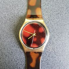 "1988 ""Sloan Ranger"" Vintage Swatch Watch Large Size / 80s Gold Black Leopard Print / GX104 Tags : swatch watches women, vintage swatch watches, 80's swatch watches, swatch watches silver, swatch watches 2016, mens swatch watches, swatch watches irony, swatch watches chrono, swatch watches automatic, black swatch watches, swatch watches scuba, swatch watches classic, swatch watches for men, swatch watches retro, swatch watches orange,"