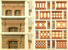 Brick facades of the XIX century