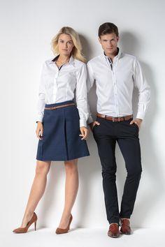 KK790 (Women's) and KK190 (Men's) Contrast Premium Oxford Shirt