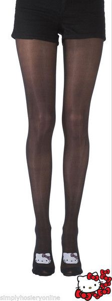 Pretty Polly Hello Kitty Placement Tights 40 Denier Tights Black