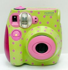 FUJIFILM Instax mini7s painted I don't even. How did this happen?
