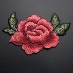 13*9cm 3D rose peony flower patch Embroidered garment Appliques sew On Patches Clothes cheongsam wedding dress Accessory. Price is only $2.64