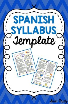 Spanish Syllabus Template This Word document is a completely customizable… Spanish Teacher, Spanish Classroom, Teaching Spanish, Spanish Grammar, Spanish Lesson Plans, Spanish Lessons, Spanish Projects, Spanish 1, Syllabus Template