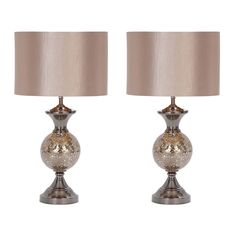 """Hettie 25"""" H Table Lamp with Drum Shade"""