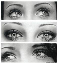 Realistic Pencil Drawings of Human Eyes