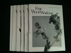 Vintage Fine WoodWorking Magazines Lot 6 1982 Back Issues DIY Wood Crafts