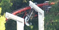 Ninja roller coaster Derails at Six Flags Magic Mountain