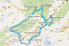Travel through the entire state with this waterfall road trip in Virginia. There are 8 scenic waterfall trails that are perfect for the most adventurous folks out there, and the views of the best waterfalls in Virginia are stunning. Weekend Trips, Day Trips, Virginia Waterfalls, Nc Waterfalls, Places To Travel, Places To Go, Hiking Places, Virginia Vacation, Tennessee Vacation